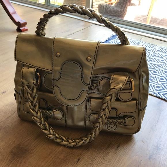 350d9692f73 Valentino Histoire Gold Patent Leather Satchel. M_5b19a06c7386bca684de279c